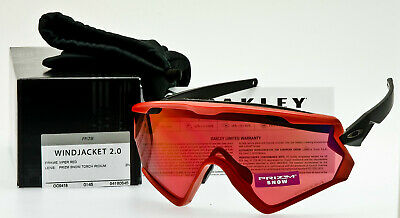 06c71a3b5f779 NEW OAKLEY WIND JACKET 2.0 PRIZM SNOW Viper Red Torch Iridium GENUINE USA  MADE