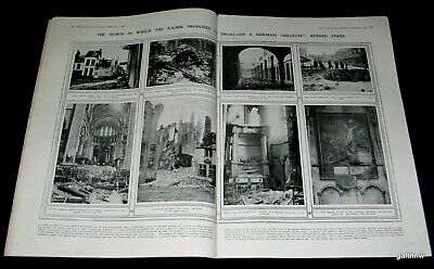 Ypres Belgium 1914 World War I Pictorial + Turkish Leaders & Russian Front