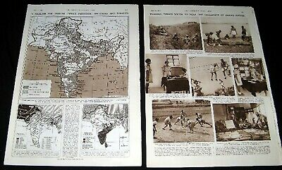 India – Pakistan Partition 1947 Pictorial Army Youth & Maps Of Language Religion