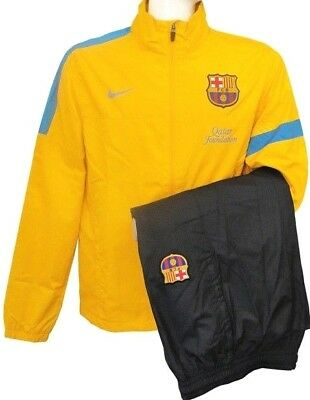 7d9c5a16fe7 NIKE FC BARCELONA SIDELINE WOVEN WARM UP TRACKSUIT City Grey/Tour ...