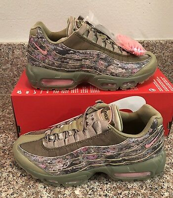 NIKE AIR MAX 95 Womens Wmns Camo Neutral Olive Arctic Punch