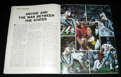 MISSISSIPPI FOOTBALL 1970 ARCHIE MANNING & FIANCEE vs ALABAMA PICTORIAL OLE MISS