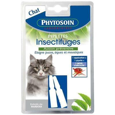 PHYTOSOIN Pipettes insectifuges - Pour chat - Lot de 2