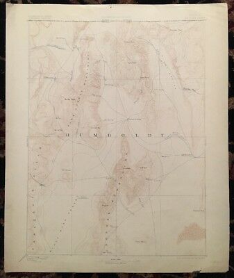 USGS Topographic Map 1893 Data DISASTER QUADRANGLE,  NEVADA