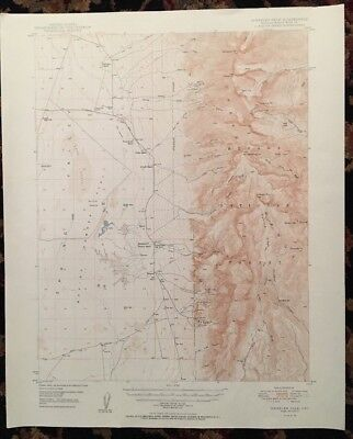 USGS Topographic Map 1950 WHEELER PEAK QUADRANGLE (WHITE PINE CO.) NEVADA