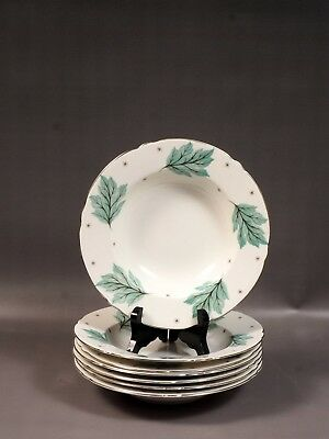 Shelley Drifting Leaves 13848 Rimmed Soup Plate Bowl Bone China Vintage