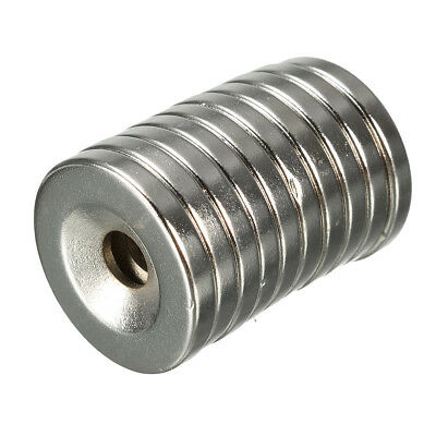 10st N35 20x3mm Senkkopf Ring Magnete With 5mm Hole Strong Neodymium Disc Aber