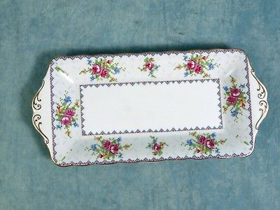 Royal Albert Bone China Petit Point Large SANDWICH Snack TRAY DISH 1930s