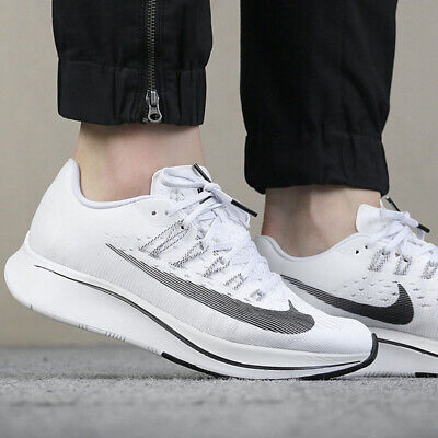 52750f2aac4a Wmns Nike Zoom Fly White black-Pure Platinum Running Shoes ( 897821 100 )