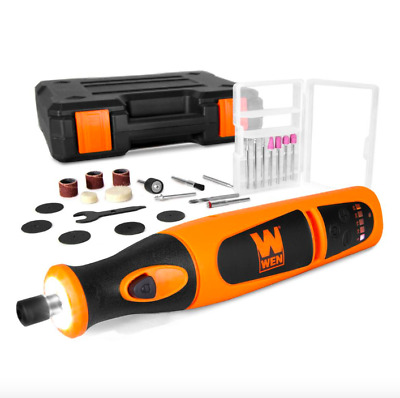 Wen Variable Speed Cordless Rotary Multi Tool Kit 24 Piece Accessory Set Charger