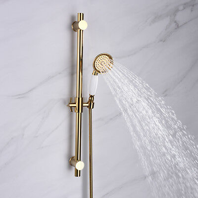 Ciencia brass gold metal shower sliding bar with height adjustable for bathroom