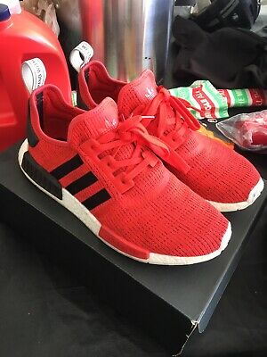 e19670a14778b Adidas NMD R1 Core Red sz 12 Running Shoes BB2885 Black White 2017 Nomad PK