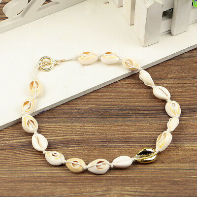 SS18 Handmade Cowrie Shell Choker Necklace Other Bloggers Stories White Gold UK