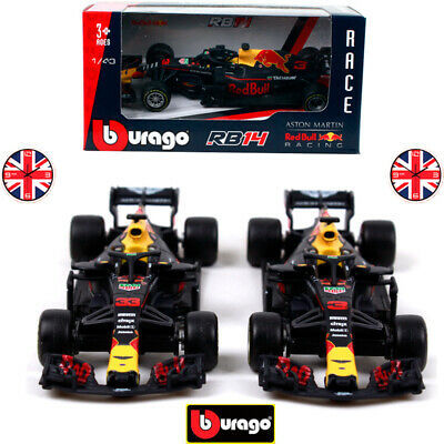F1 Formula One 2018 Red Bull&Aston Martin Diecast Car Model RB14 Kids Toys Gifts