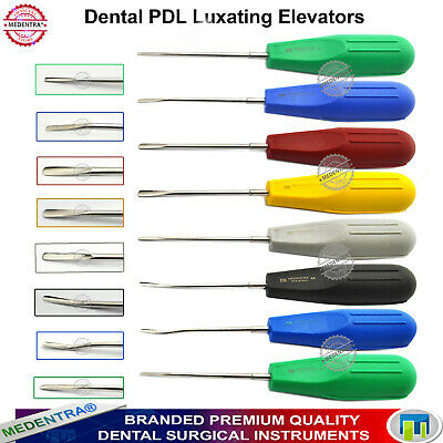 Set of 8 Luxating Elevators Dental Oral Surgery Extraction Set Colorful Handles