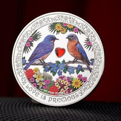 Niue Love Bird with Diamond Heart-shaped Commemorative Coins