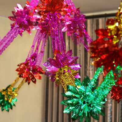 3M Christmas Foil Garland Bell XMAS Hanging Swirls Ceiling Wall Party Decoration