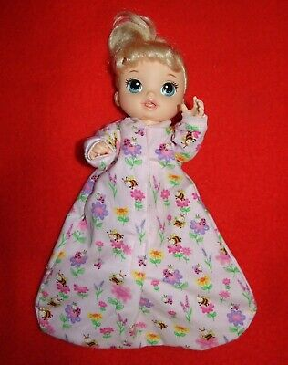 "Dolls clothes for 13"" BABY ALIVE / MY MOMMY DOLL~Sleeping Bag / Bees & Flowers"