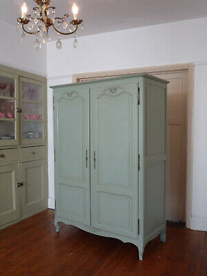 Painted Louis VX Style French Armoire Wardrobe