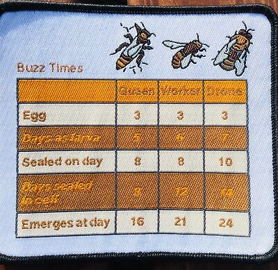 Bee keeper Suit Patch With Key Bee Times, Sew On Fabric P&P Included, Swarm Time