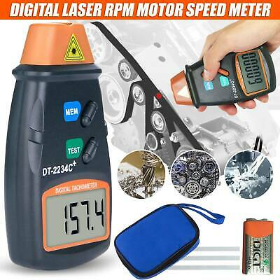 Non Contact Tach Tool Handheld Digital Laser Photo Tachometer Tester RPM Motors