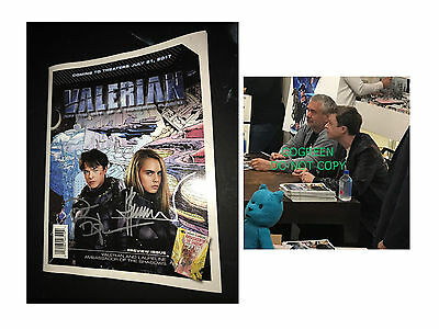 Luc Besson signed Valerian comic graphic novel Dane DeHaan poster photo proof