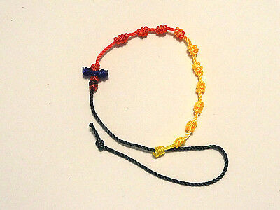 ++++ Rosary Bracelet Knotted Nylon Twine/Cord -Crayon++++