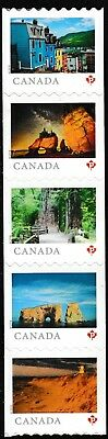 Canada 3062-3066 3066a Far & Wide 'P' strip set (from coil of 100) MNH 2018
