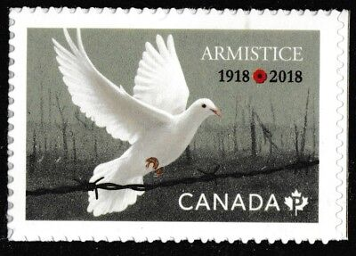 Canada 3131 Armistice 'P' single (from booklet of 10) MNH 2018