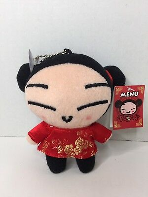 Rare Pucca Doll 5in Plush Stuffed Toy For Hanging Or Keychain Japanese Anime