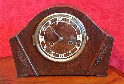 Vintage British 10-Day Striking Mantel Clock