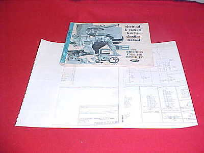 1981 ford truck f 100 250 350 bronco electrical evtm service manual + wiring  81