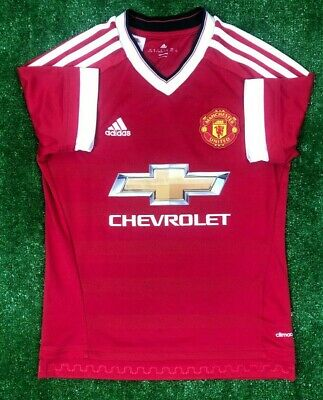 a686f2979a7 Manchester United 2015 2016 Home Football Soccer Shirt Jersey Adidas Boys  Size M