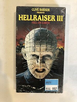 Hellraiser Iii Hell On Earth Vhs Clive Barker