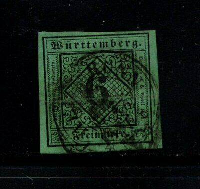 Item No. A6849 – Germany: Wurttemberg – Scott # 4 – Used