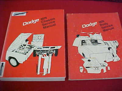 1974 dodge challenger charger dart car shop service manual 74 + wiring  diagrams