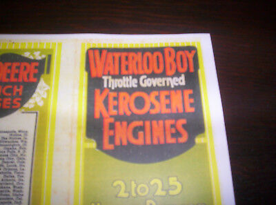 "Waterloo Boy Model ""K"" Gas Engine Kerosesne Color Sales Brochure"