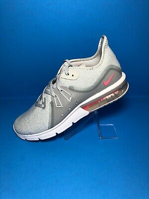 3363bd4156 Nike Air Max Sequent 3 Womens 908993-012 Platinum Knit Running Shoes Size 9