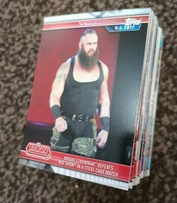 Topps WWE Champions Wrestlemania 2019 Full 100 Card Base Set £4.99 LIMITED OFFER