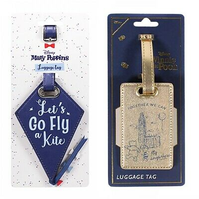 Genuine Disney Luggage Tag Travel Label Mary Poppins Winnie The Pooh Suitcase