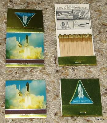 SPACE SHUTTLE 1980s SET OF COMMEMORATIVE MATCHBOOKS IN CASE