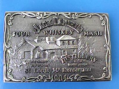 VINTAGE 1970s ***JACK DANIELS WHISKEY*** 1904 WORLDS FAIR BOOZE BELT BUCKLE