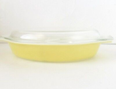 Vintage PYREX Yellow Casserole Divided