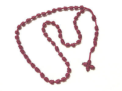 ++++Rosary Knotted Nylon Twine/Cord Magenta++++