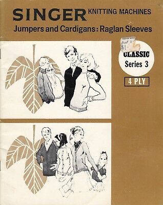 SINGER Knitting Machine Pattern Book CLASSIC SERIES 3 JUMPERS & Cardigans