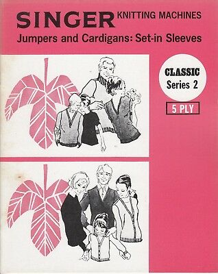 SINGER Knitting Machine Pattern Book CLASSIC SERIES 2 JUMPERS & Cardigans