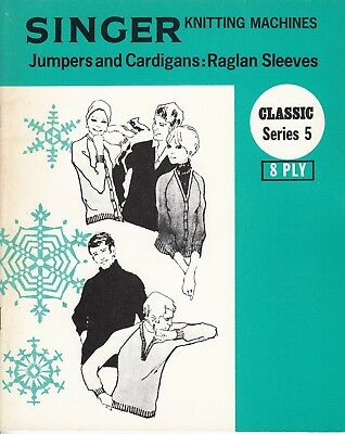 SINGER Knitting Machine Pattern Book CLASSIC SERIES 5 JUMPERS & Cardigans 8 ply