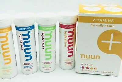 Nuun Vitamins Hydration Tablets Mixed 4 pack Variation 2