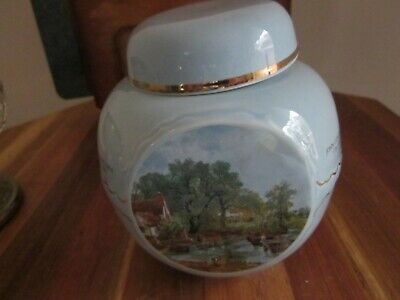 Twinings John Constable Painting Tea Caddy Canister Burgess Leigh Staffordshire