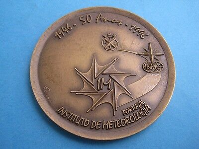50th Anniversary of Institute of Meteorology of Portugal 1946/1996 Bronze medal